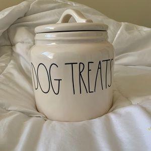 Big Rae Dunn Dog Treats Container